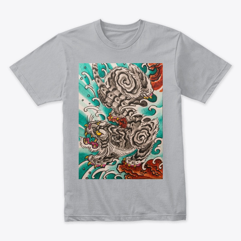 Fip Grey Tiger  Heather Grey T-Shirt Front