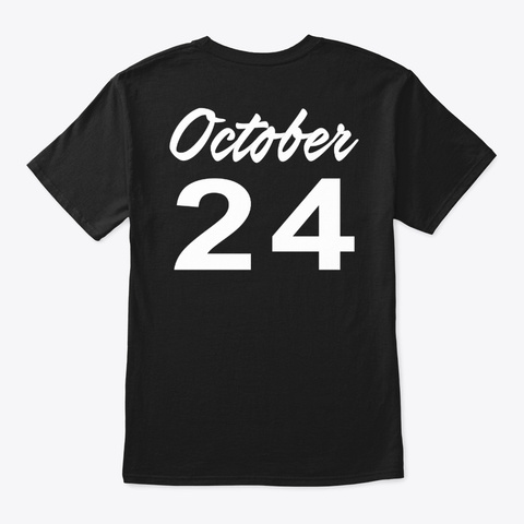 October 24   Scorpio Black T-Shirt Back