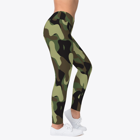 Camouflage Pattern Leggings Black T-Shirt Right