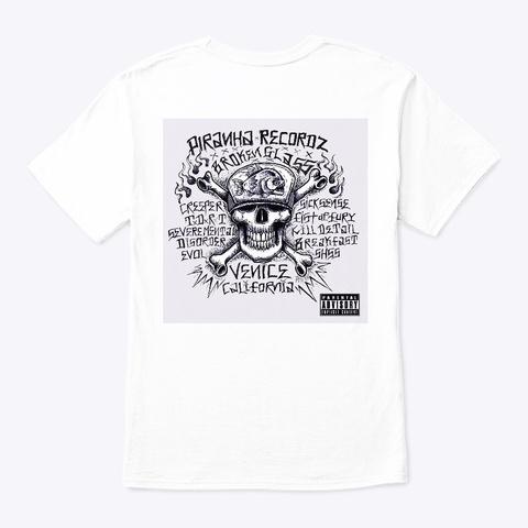 Piranha  Og Broken Glass White T-Shirt Back