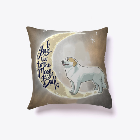 Great Pyrenees L Over Pillow White T-Shirt Front