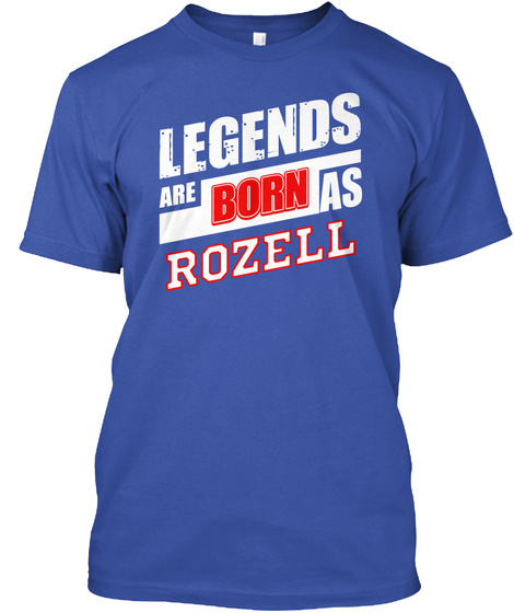 Legends Rozell Family Name Royal T-Shirt Front
