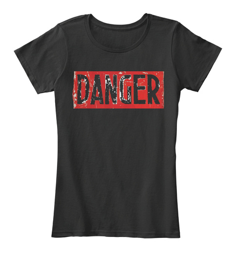 Danger Black T-Shirt Front