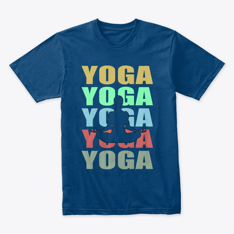 "Yoga Meditation ""The Silent Buddha"" Cool Blue T-Shirt Front"