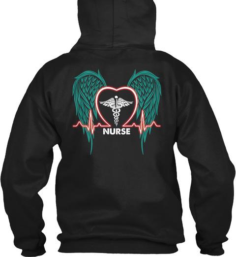 Nurse Black T-Shirt Back