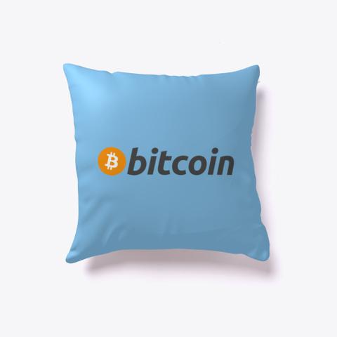 Bitcoin First Light Blue T-Shirt Back