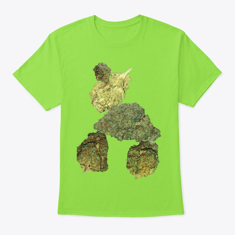 Jimmyinspaz Zz Balance With Bud Design Lime T-Shirt Front