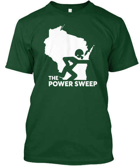 The Power  Sweep Forest Green  T-Shirt Front