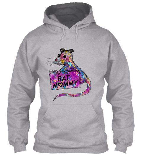 Rat Mommy Sport Grey T-Shirt Front