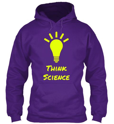 Think Science Purple T-Shirt Front