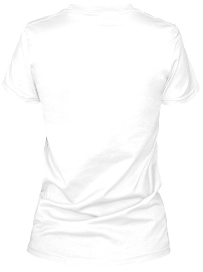 #12 Jump For Joy White Women's T-Shirt Back