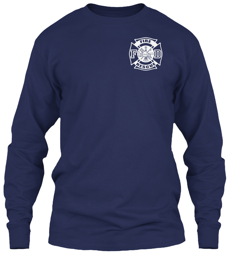Fire-Rescue-S-F-D-Gildan-Long-Sleeve-Tee-T-Shirt thumbnail 7
