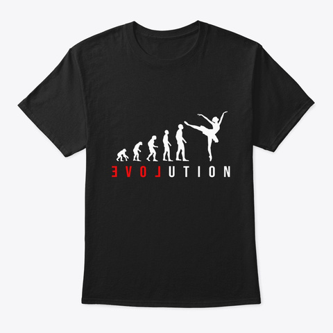 Gift For Ballerina Girl Or Woman In Ball Black T-Shirt Front
