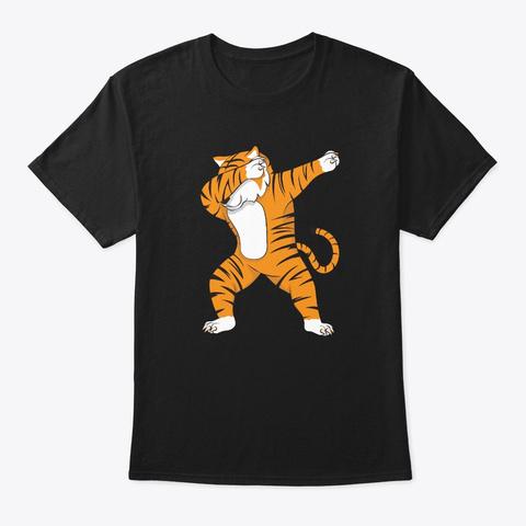 Dabbing Tiger Black T-Shirt Front