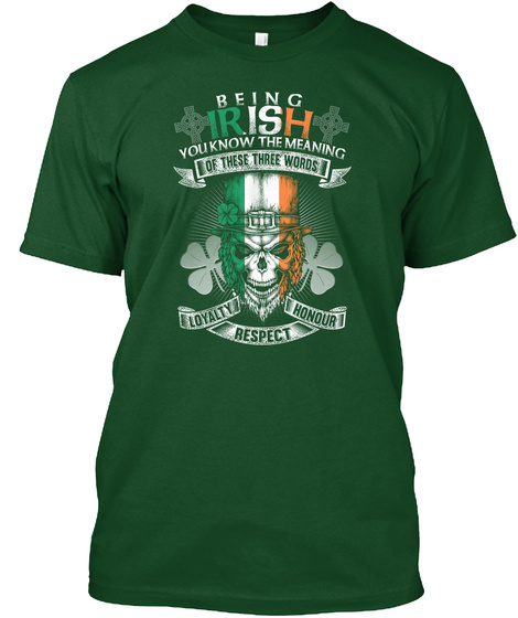 Irish Best Awesome Deep Forest T-Shirt Front