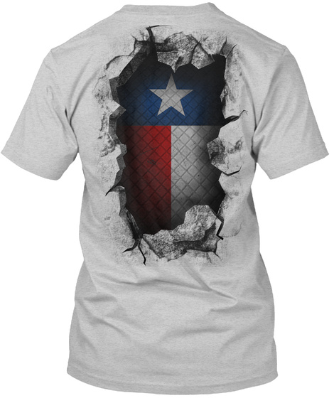 Texas Breakthrough Light Steel T-Shirt Back