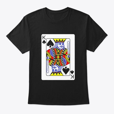 King Of Spades Playing Card Group Black T-Shirt Front