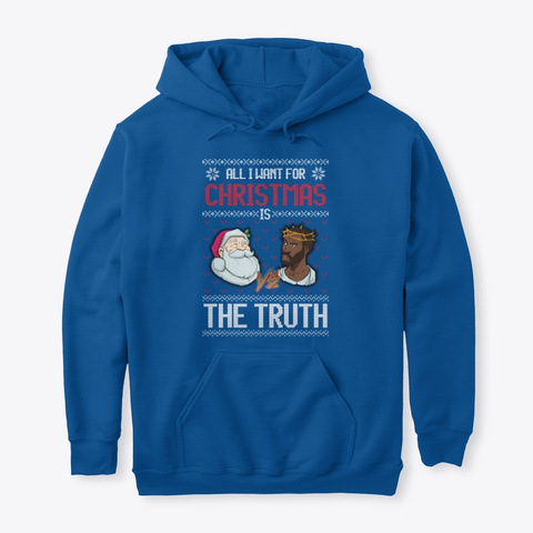 Jesus Vs Santa Blue Royal T-Shirt Front
