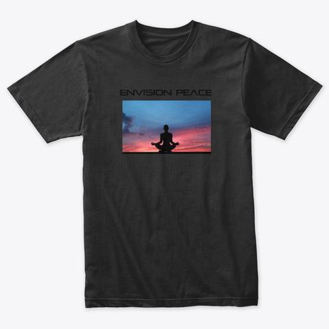 Envision Peace Meditative Sunset Vintage Black T-Shirt Front