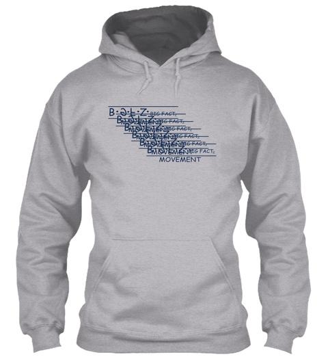 Factz  Messy Logo Hoodies Sport Grey T-Shirt Front