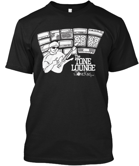 The Tone Lounge Black T-Shirt Front