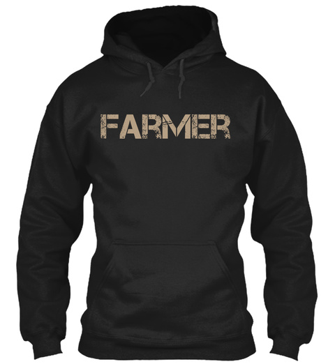 Farmer Black T-Shirt Front