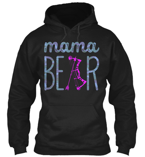 Mama Bear Black T-Shirt Front