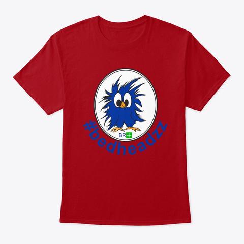 Bed Headzz Crew Merch Deep Red T-Shirt Front