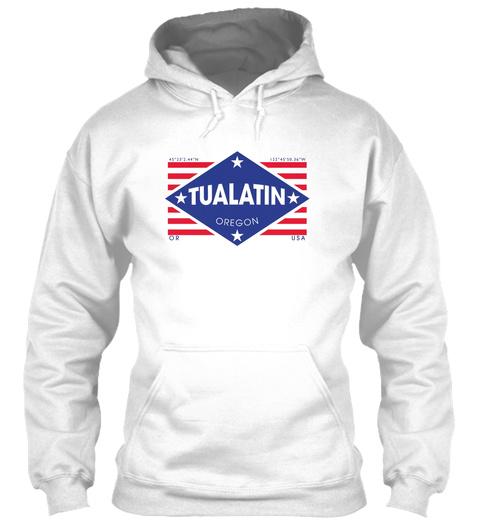 Tualatin, Oregon Diamond Flag White T-Shirt Front