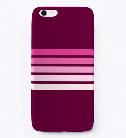 Kihei Pink Gradient Retro Stripes Standard T-Shirt Front