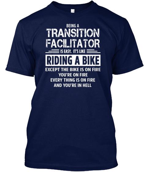 Transition Facilitator Navy T-Shirt Front