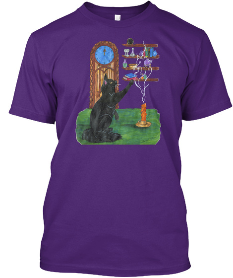 Ancestral Smoke Cat Purple T-Shirt Front