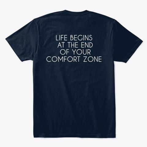 Camiseta Azul Comfort Zone New Navy T-Shirt Back