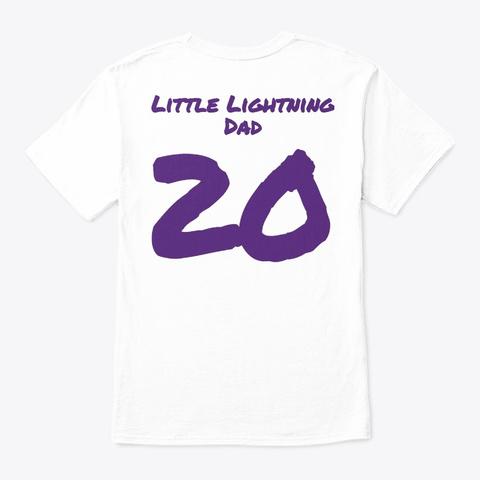 Little Lightning Dad White T-Shirt Back