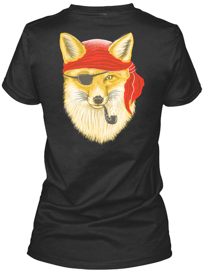 Foxy Pirate Black Women's T-Shirt Back