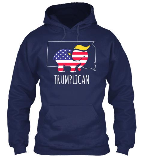 Trumplican Navy T-Shirt Front