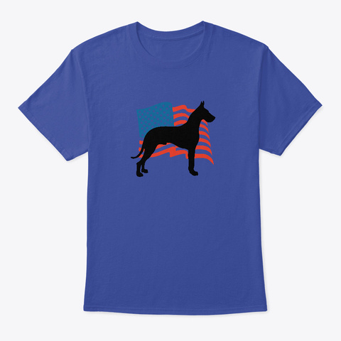 Great Dane Dog Lover Independence Day  Deep Royal T-Shirt Front