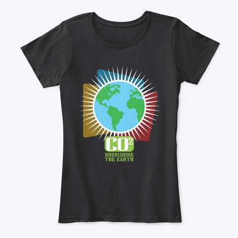 Co2 Nourising The Earth Black T-Shirt Front