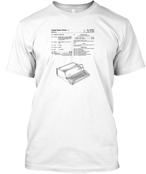 @Read Multiplex Patent Series #1 White T-Shirt Front