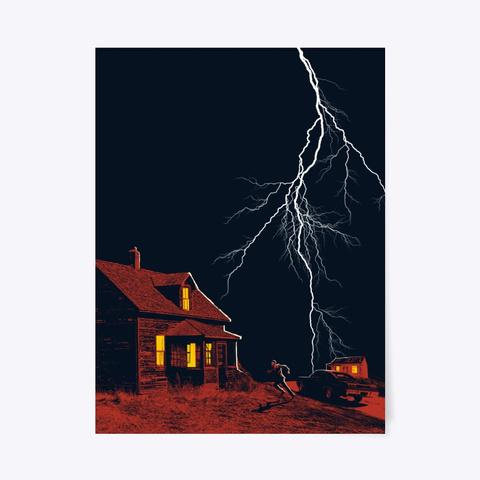 Lightning Poster Standard T-Shirt Front