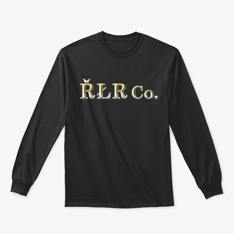 řłr Co.  = Uhd Gold Black T-Shirt Front
