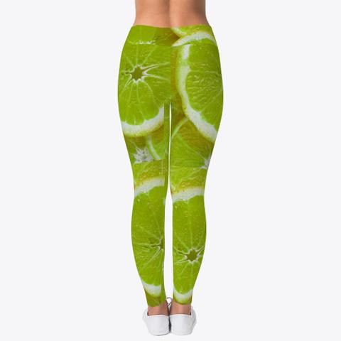 Green Lemon Leggings Standard T-Shirt Back