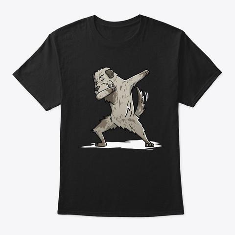 Dabbing Irish Wolfhound Black T-Shirt Front