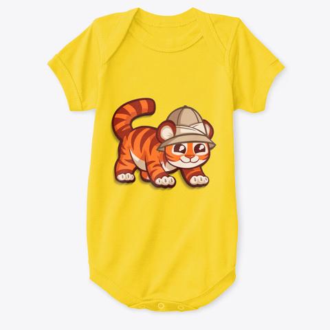 Mod.58 Cutiez Wear Cute Little Tiger Ver2 Yellow  T-Shirt Front