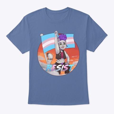 Resist! Denim Blue T-Shirt Front