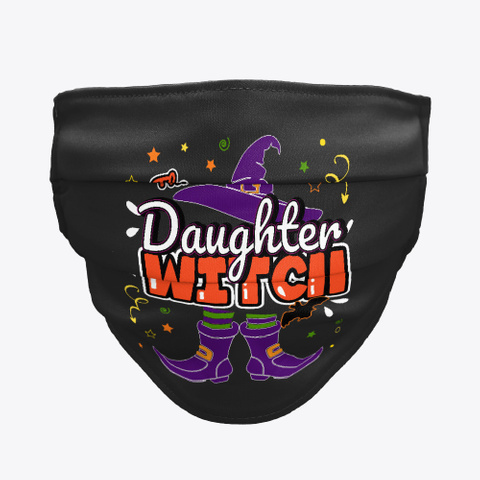Daughter Witch Halloween Group Matching Black T-Shirt Front