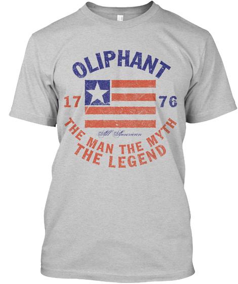 Oliphant American Man Myth Legend Light Steel T-Shirt Front