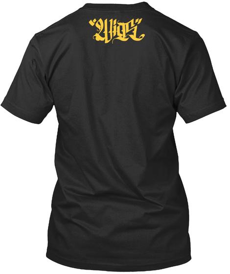 """""""2vigs"""" Black Camiseta Back"""
