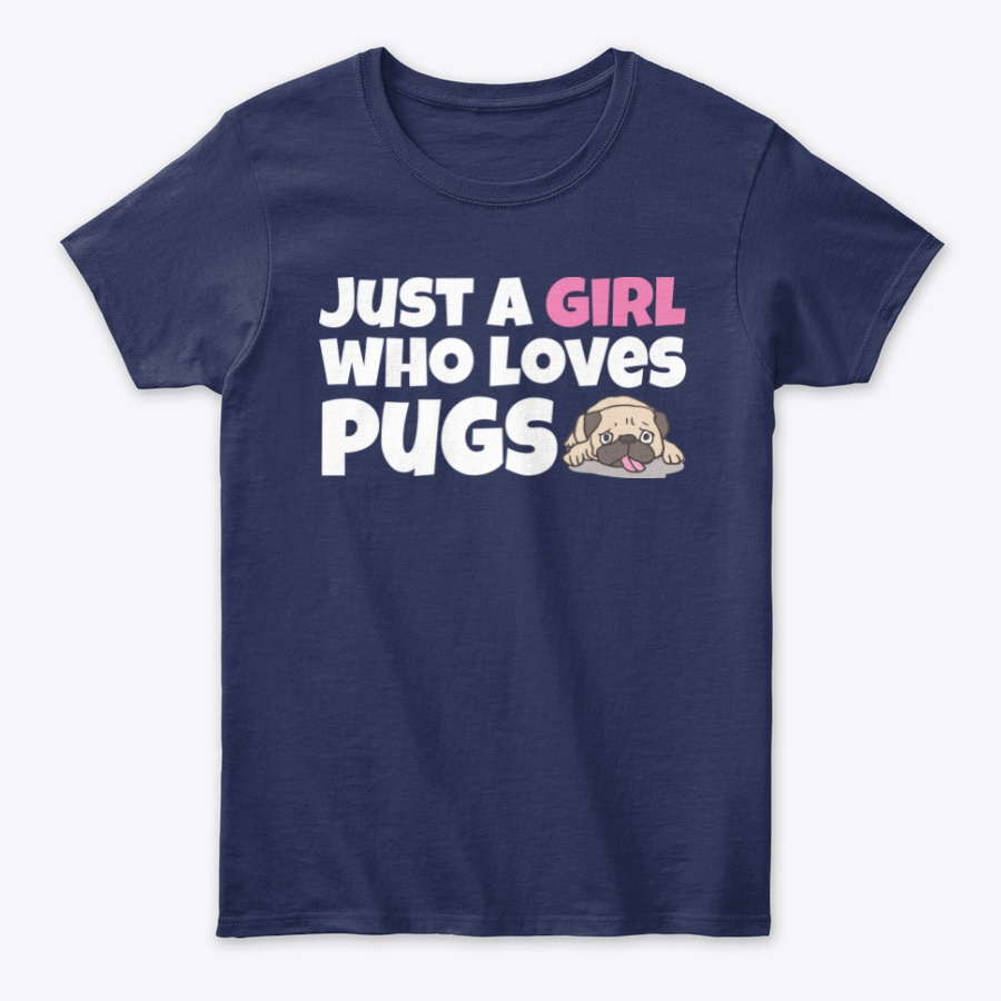 Just a girl who loves pugs lover gift Unisex Tshirt