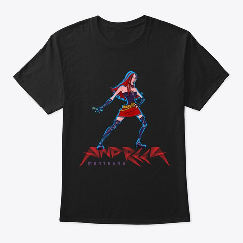 Andreea Munteanu   Singer Black T-Shirt Front